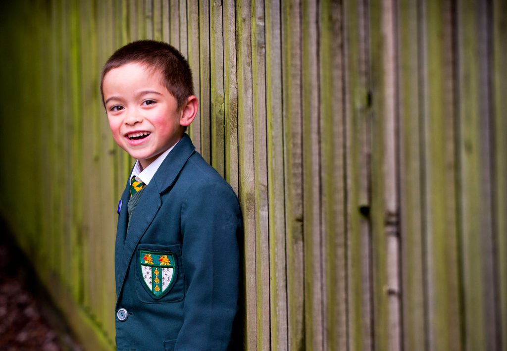 Children are happy at Chard School